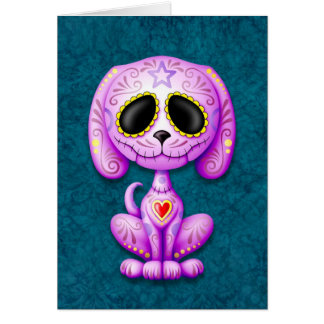 Purple and Blue Zombie Sugar Puppy Card