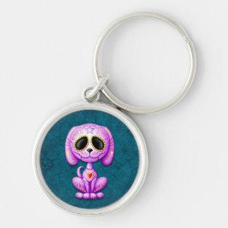 Purple and Blue Zombie Sugar Puppy Keychains