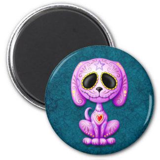 Purple and Blue Zombie Sugar Puppy Refrigerator Magnet