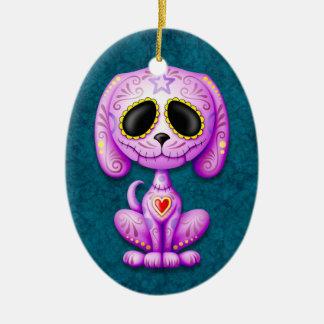 Purple and Blue Zombie Sugar Puppy Ornament
