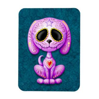 Purple and Blue Zombie Sugar Puppy Vinyl Magnet