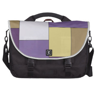 Purple and Brown Color Block Computer Bag