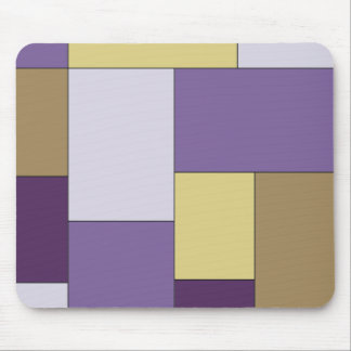 Purple and Brown Color Block Mouse Pad