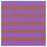 [ Thumbnail: Purple and Brown Colored Lines Fabric ]