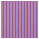 [ Thumbnail: Purple and Brown Colored Stripes/Lines Pattern Fabric ]