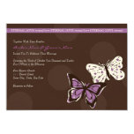 Purple and Brown Cool Butterfly Wedding Invitation
