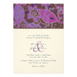 Purple and Brown Fall Floral Wedding Invitation