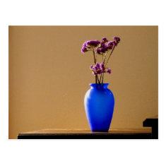 Purple and Cobalt Postcard