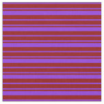 [ Thumbnail: Purple and Dark Red Pattern of Stripes Fabric ]