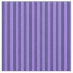 [ Thumbnail: Purple and Dark Slate Blue Stripes Fabric ]
