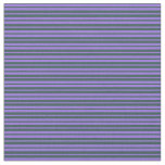 [ Thumbnail: Purple and Dark Slate Gray Colored Pattern Fabric ]