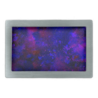 Purple and Deep Blue Universe Inky Watercolor Rectangular Belt Buckle