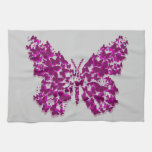 Purple and Fuchsia Layered Butterfly Hand Towels