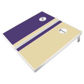 Purple and Gold Add Your Logo Cornhole Set