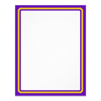 Purple And Gold Border Trim Letterhead Design