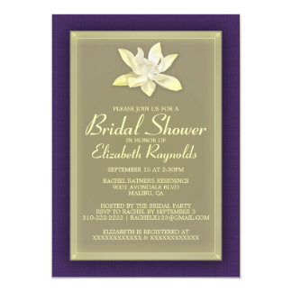 Purple and Gold Bridal Shower Invitations Personalized Invitation