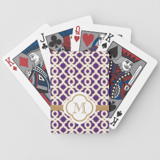 Purple and Gold Card Deck