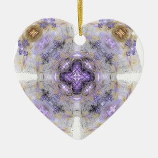Purple and Gold Circle Square Fractal Art Design Christmas Tree Ornaments