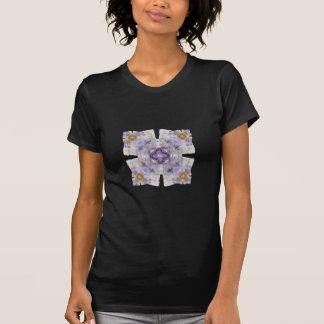 Purple and Gold Circle Square Fractal Art Design T-shirt
