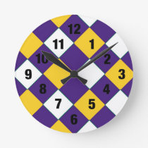 Purple and Gold Cobbler Clock