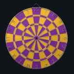 "Purple And Gold Dartboard<br><div class=""desc"">Purple And Gold Dart Board</div>"