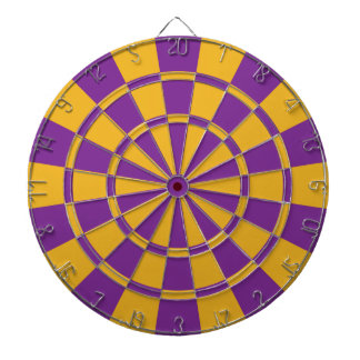 Purple And Gold Dartboard