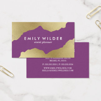 Purple and Gold Dipped | Business Card