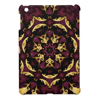 Purple and Gold Filigree Kaleidoscope iPad Mini Ca Cover For The iPad Mini