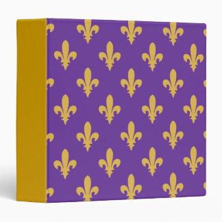 Purple and Gold fleur de lis Avery Binder