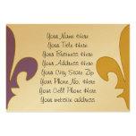 Purple and Gold fleur de lis gifts Business Card Template
