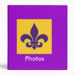 Purple and Gold Fleur de Lis Photo Binder