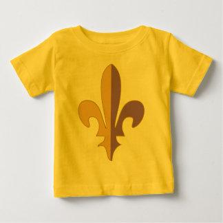 Purple and Gold fleur de lis T-shirt