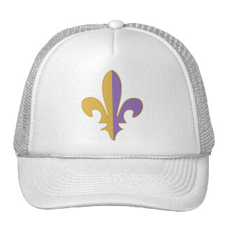 Purple and Gold fleur de lis Trucker Hat
