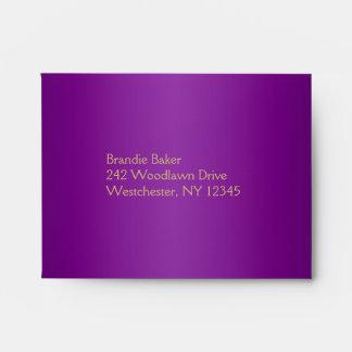 Purple and Gold Floral Envelope fits RSVP