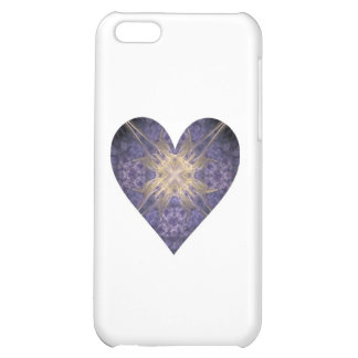Purple and Gold Fractal Art Heart iPhone 5C Covers