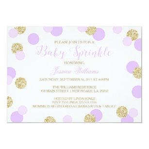 purple baby sprinkle invitations zazzle