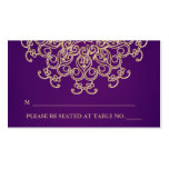 Purple and Gold Indian Inspired Seating Place Card