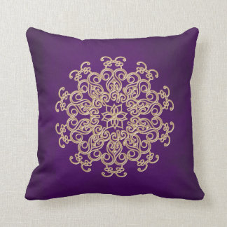 PURPLE and Gold Indian Style Pillows