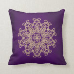 PURPLE and Gold Indian Style Throw Pillows