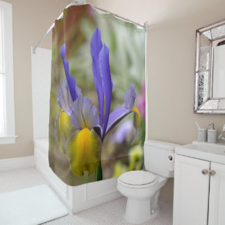 Iris Shower Curtains Zazzle - Purple and gold shower curtain