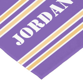 Purple And Gold Jersey Short Table Runner