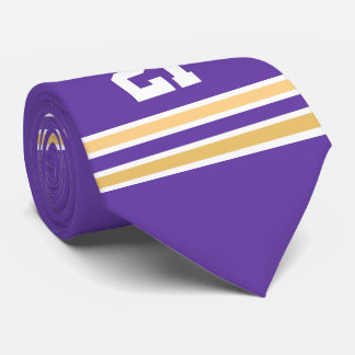 Purple and Gold Jersey Tie