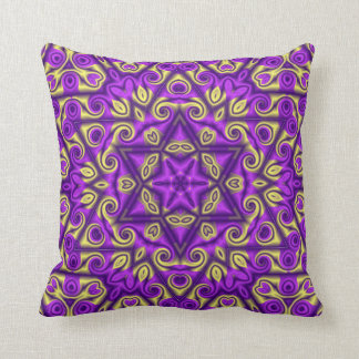 Purple and Gold Kaleidoscope Pillow