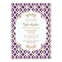 Purple and Gold Moroccan Bridal Shower Invites 5&quot; X 7&quot; Invitation Card (<em>$2.16</em>)