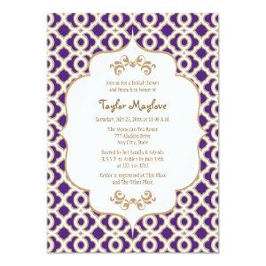 Purple and Gold Moroccan Bridal Shower Invites 5