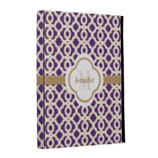 Purple and Gold Moroccan iPad Folio Case Cover