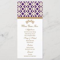 Purple and Gold Moroccan Menu