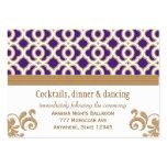 Purple and Gold Moroccan Reception Enclosure Card