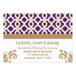 Purple and Gold Moroccan Reception Enclosure Card Business Card Templates