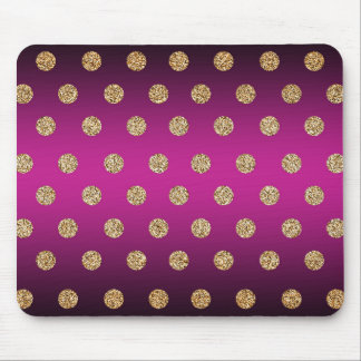 Purple and Gold Mouse Pad
